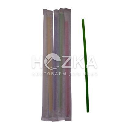 Трубочки Ассорти прямые в инд/уп 21 см 200 шт - 1