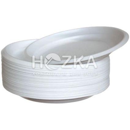 Тарелка 20,5 см 100 шт/уп белая - 1