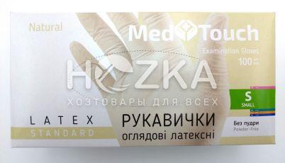 Перчатки MedTouch  латексные б/пудры 100шт S