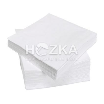Салфетки 33*33 2 слоя белые 1/8 50 шт - 1