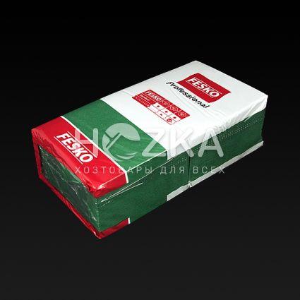 Салфетки 33*33 2 слоя, зеленый 100 шт - 3