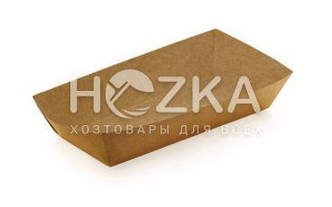 Тарелка Лодочка крафт ЕКО большая лам 215*145 100шт/рук (в сборке)