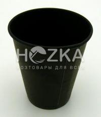 Стакан однослойный чёрный внутри и снаружи 175  мл/50 шт ( крышка 70)