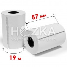 Кассовая лента 57мм (19м) термо 14шт в уп. 200 в ящ
