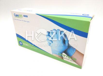 Перчатки смотровые нитриловые синие S 100шт - 2