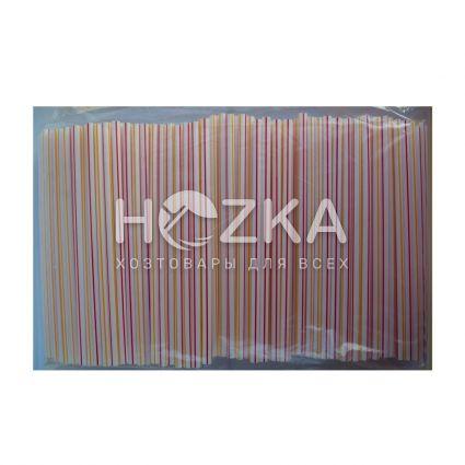 Трубочки Фреш полосатые прямые d-6,8 21 см 500 шт - 3