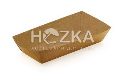 Тарелка Лодочка крафт ЕКО большая лам 215*145 100шт/рук (в сборке) - 1