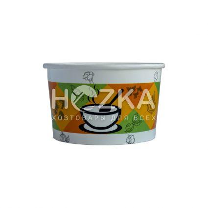 Контейнер суповой бумажный 470 мл (50шт/уп) - 2
